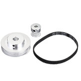Original              TWO TREES® 60Teeth 8mm Bore Diameter + 20Teeth 5mm Bore GT2 Timing Belt Pulley with  6mm Timing Belt for 3D Printer