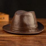 Chapeau en cuir pour hommes Chapeau en peau de vache Chapeau en cuir extérieur