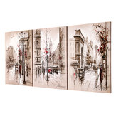 3Pcs Modern City Canvas Print Pinturas Wall Hanging Art Pictures Framed Unframed