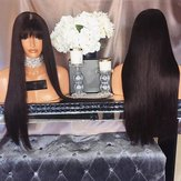 Air Bangs Long Straight Hair Realistic Natural Wig