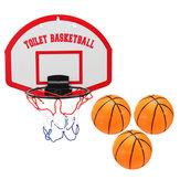 Mini-conjunto de basquete anel de placa de aro de rede interna cesta de suspensão brinquedos de chuveiro de banho