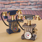 Vintage Rotary Telephone Statue Antique Shabby Old Phone Figurine Home Decorations