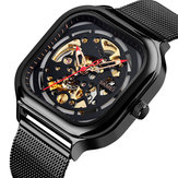 SKMEI 9184 Fashion Waterproof Hollow Art Mecânico Assista