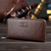 Hommes Faux Leather Business Clutches Bag Phone Phone Wallet