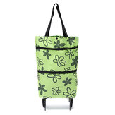 Oxford Folding Shopping Cart Bag Trolley Dolly Handcart Market Outdoor Storage Bag