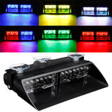 12LED RGB 12V 36W Car Auto Windshield Dashboard Emergency Warning Lamp Flashing Strobe Light 6 Colors Convert