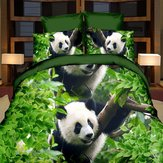 3D Panda Single Double Size Quilt Cover Pillowcase Bedding Sets Printed Duvet Cover