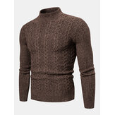 Men's New Fashion Trend Twisted Long-sleeved Casual Sweaters