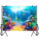 5x3FT 7x5FT 8x6FT Cartoon Sea Fish Photography Backdrop Background Studio Prop