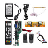 T.SK106A.03 Universal LCD LED TV Controller Driver Board +7 Key button+2ch 8bit 40Pins LVDS Cable+4pcs Lamp Inverter+Speaker+EU Power Adapter