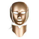 7 kleuren LED Light Photon Face Neck Mask Verjonging Huid Gezichtstherapie