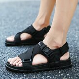 Hook&Loop Opened Toe Casual Beach Soft Sole Sandals