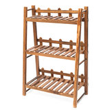 Heavy Duty Wood 3 Tier Plant Stand Shelf Indoor Outdoor Flower Pot Rack Holder Rack