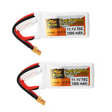 2Stk ZOP Power 11,1 V 1000 mAh 70C 3S Lipo Batterie XT30 Stecker