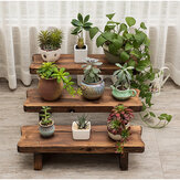 Flower Pot Stand Bench Stool Shelf Storage Shoe Holder Stepped Indoor Outdoor