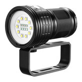 10x XML2 Diving Flashlight 100-200m Underwater Video Shooting LED Luz de relleno