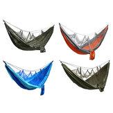 キャンプ用蚊帳ハンモック、超軽量キャンプ用ハンモックビーチスイングベッドアウトドア用ハンモックバックパッキングサバイバルまたは旅行