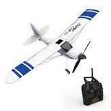 Volantex Super Cub 500 761-3 500 mm Envergadura Principiante Autoestabilizador Stunt RC Avión Ala fija con sistema de giroscopio de 6 ejes RTF