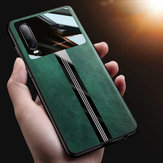 For Xiaomi Redmi Note 8 Case Bakeey Luxury Business PU Leather Mirror Glass Shockproof Protective Case Non-original