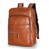 Plecak męski Faux Leather Large Capacity Baackpack