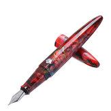 Red Resin Fountain Pen EFF Nib Classic Design Luxury Writing Business Office School Gift Pen