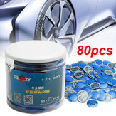 80Pcs Universal 57mm Car Rubber Wired Tyre Patches Tire Repair Tool