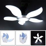AC220V / AC85-265V Blanc pur E27 2835 SMD 75W Lampe à pétales à cinq feuilles plafonnier réglable LED Ampoule de garage