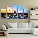 لوحات باريس برج ايفل 5 قطع طباعة صورة ديكور المنزل غرفة لا مؤطرة