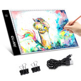 GLIME A4 Tracing Copy Board Graphics Tablet LED Light Box Digital Sketch Drawing Board Painting Writing Tablet