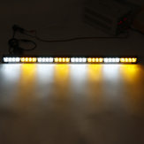 35Inch 32 LED Strobe Light Warning Advisor Traffic Traffic Bar de Perigo de Emergência Âmbar + Branco