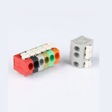 10PCS BEST 2 Pin Plug-in Brass Wire Connector Terminals LED Flame Retardant Terminal Block Connector