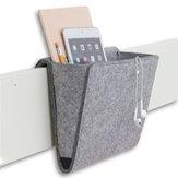 Felt Multifunction Bedside Sofa Hanging Holder Storage Organizer Box Magazine Smart Phone Remote Controll Storage Bag Pockets