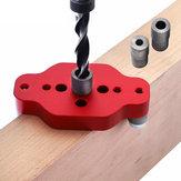 Drillpro en alliage d'aluminium à bois auto-centrant goujon 6/8 / 10mm droit trou locator perforateur