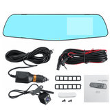 1080P HD Dual Lens Car Video Cam Mirror Recorder With Rear View DVR Camera