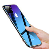 Cafele Gradient Color Tempered Glass + Soft Silicone Edge Protective Case for iPhone 11 6.1 inch