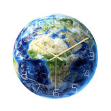 Loskii CC092 Creative Luminous Earth Africa Map Wall Clock Mute Wall Clock Quartz Wall Clock For Home Office Decorations