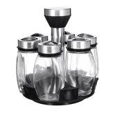 Dönebilen baharat mutfak depolama raf Stand Holder + 6 şişe baharat Düzenleyici raf