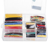 328Pcs Heat Shrink Tube Sleeving Wrap Wire Car Electrical Cable Tube kits Polyolefin 8 Sizes Mixed Color 2:1