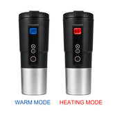 12V 410ML Digital Display Electric Hot Water Vacuum Cup Thermostat Car Home Temperature Control Multi-function Heating Mug Kettle
