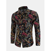 Men's Ethnic Style Printed Long Sleeve Casual Shirts