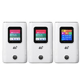 Roteador móvel sem fio 4G Modem repetidor wi-fi portátil LCD Exibição 150Mbps Notificação SMS 5200mAh Banco de energia para carregamento de dispositivo eletrônico Suporte para 10 dispositivos