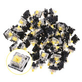 120PCS Pack 3Pin Gateron Linear Yellow Switch Switch Switch para Mecânico Gaming Keyboard