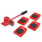 5本の赤い家具ムーバーヘビーデューティリフタームーバートランスポートセット家具ローラーツール