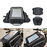 Expandable Magnetic Touch Screen Motorcycle Oil Gas Fuel Tank Helmet Bag Saddlebags Pouch Smartphones GPS Storage Racing Waterproof