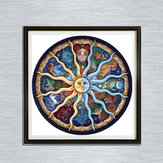 DIY Mandala Series Sun Diamond Paintings Embroidery Cross Stitch Full Needlework Home Decor
