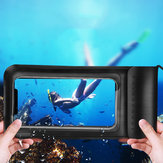 KUULAA IPX8 Waterproof Phone Pouch Screen Touch Underwater Swimming Diving PU+TPU Phone Bag for iPhone Huawei Xiaomi Non-original