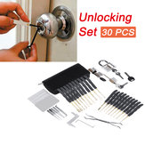30Pcs Unlocking Lock Picks Set Key Extractor Transparent Practice Padlock Tool