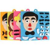 Ouders en kinderen Emoticon DIY assembleren Hangbare puzzels Kinderen Herkenning Training Educatief speelgoed