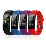 Y10 Waterproof Blood Pressure Heart Rate Smart  Wristband Bracelet 1.14 Large Screen Waterproof Blood Pressure Heart Rate Bracelet Exercise Step Sleep Blood Oxygen