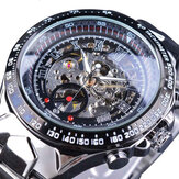Forsining S107 Fashion Men Watch 3ATM impermeabile luminoso Display automatico Meccanico orologio